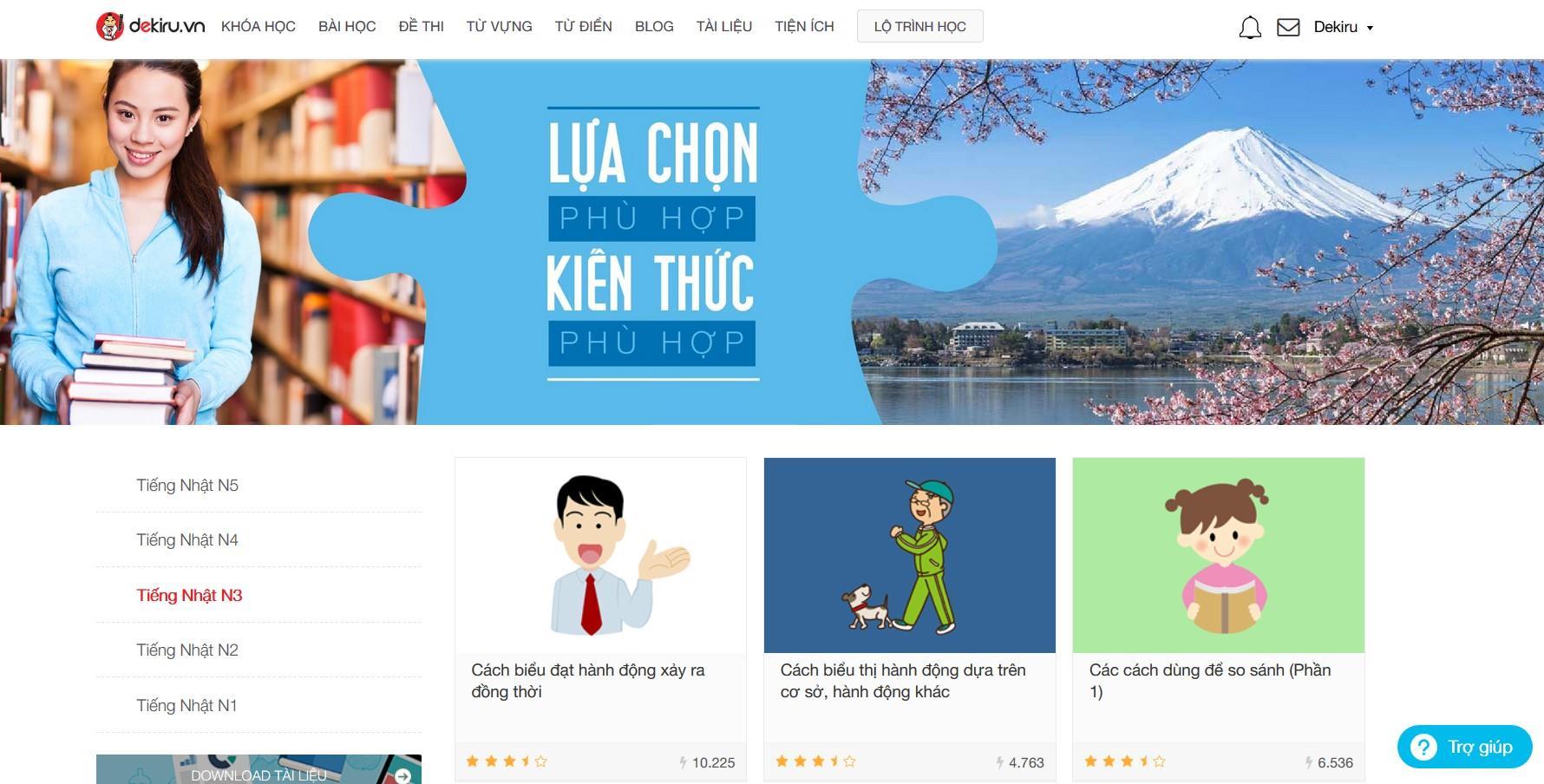 Website học tiếng Nhật trực tuyến Dekiru.vn - ảnh 1