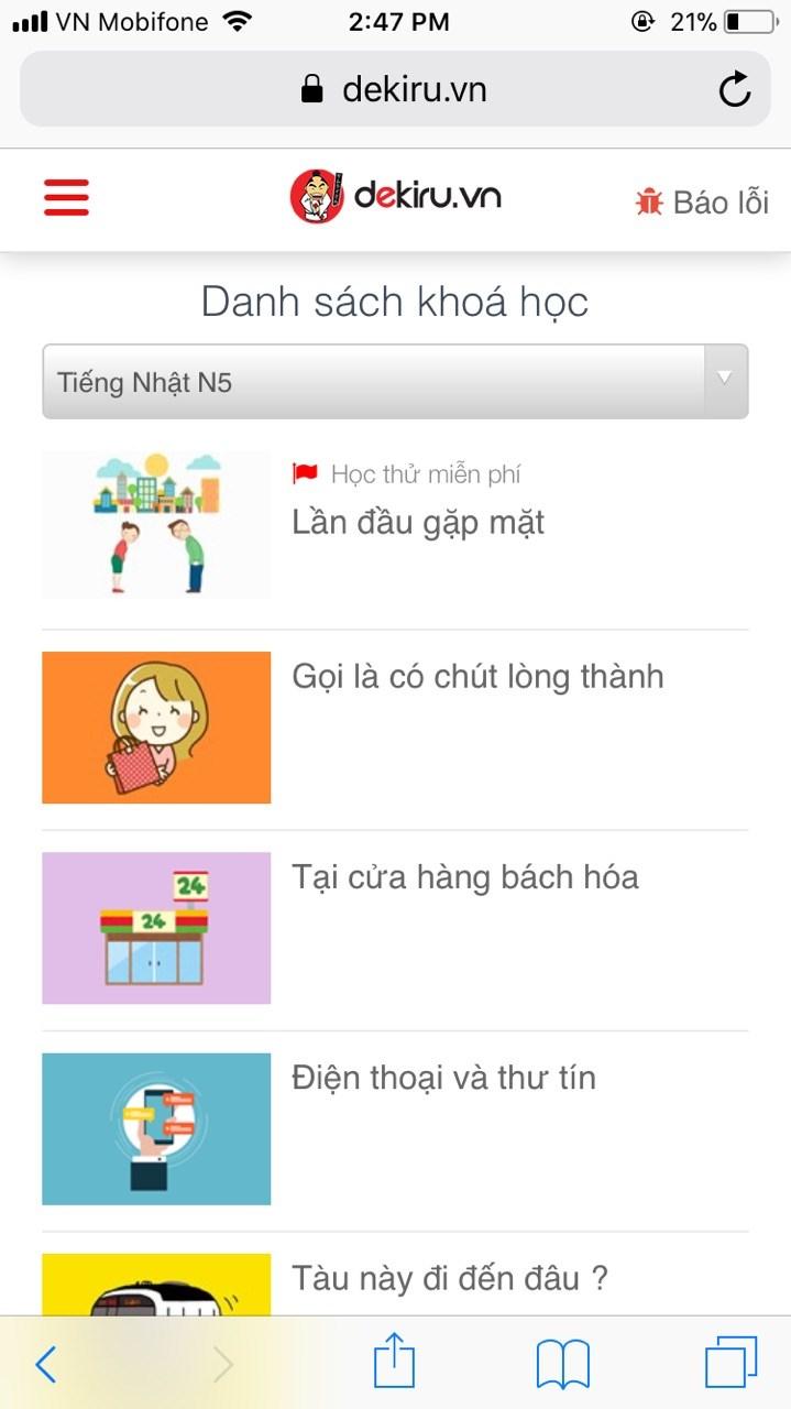 Dekiru.vn đã có phiên bản mobile, bạn đã thử chưa? - ảnh 2