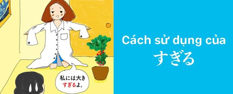 Ngữ pháp tiếng Nhật:Cách sử dụng của すぎる
