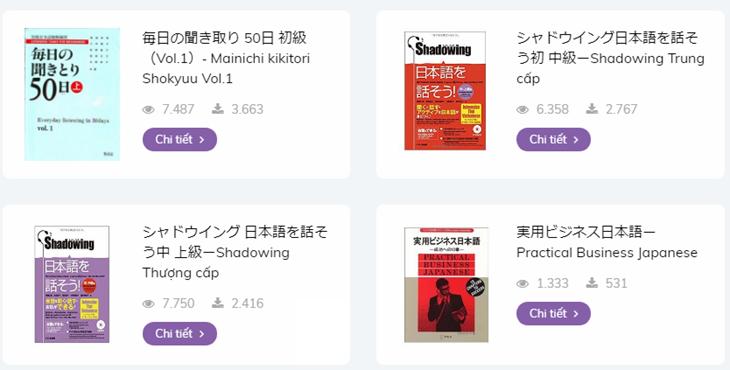 Tài liệu học tiếng Nhật miễn phí