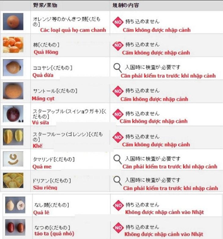 Thông tin chính xác nhất về các thực phẩm bị cấm nhập cảnh Nhật Bản - ảnh 5