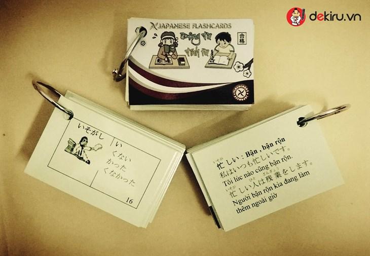 Thẻ Flashcard là một công cụ học từ vựng tiếng Nhật hiệu quả