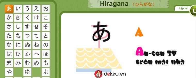 Mẹo hay ghi nhớ bảng chữ cái Hiragana chỉ trong 6 ngày
