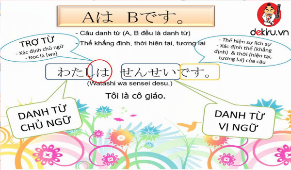 Câu khẳng định ở tiếng Nhật là dạng câu trần thuật