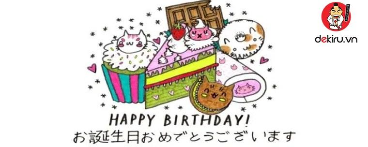 Chúc sinh nhật tiếng Nhật như thế nào?